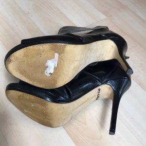 Preview International Shoes - Black leather peep toe heels